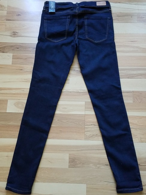 Aéropostale Blue New York Fit Stretchy Jeggings-Dark Rinse Image 2