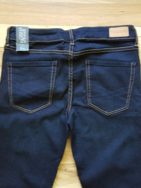 Aéropostale Blue New York Fit Stretchy Jeggings-Dark Rinse Image 4