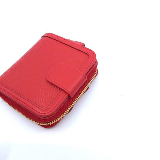 Prada Prada Portafoglio Light Red Vitello Move Zip Flap Bow Wallet 1ML522 Image 1