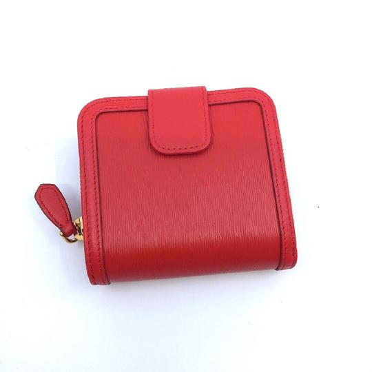Prada Prada Portafoglio Light Red Vitello Move Zip Flap Bow Wallet 1ML522 Image 4