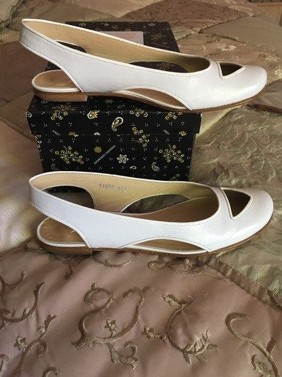 Opening Ceremony Cut Out Ballet Sling Back White Flats Image 1