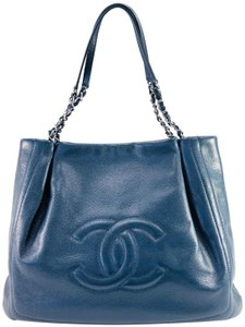 Chanel Paris Timeless Cc Tote in Slate Blue