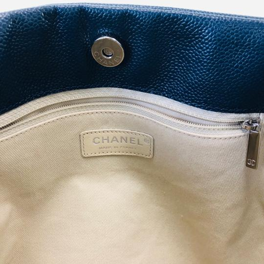 Chanel Paris Timeless Cc Tote in Slate Blue Image 8