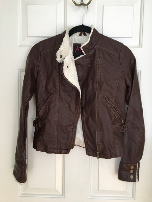 Members Only Chocolate Brown Leather Jacket Image 1