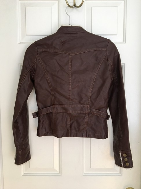 Members Only Chocolate Brown Leather Jacket Image 2