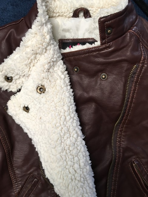 Members Only Chocolate Brown Leather Jacket Image 4