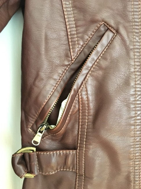 Members Only Chocolate Brown Leather Jacket Image 5