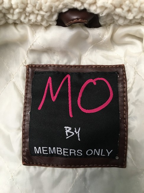 Members Only Chocolate Brown Leather Jacket Image 6