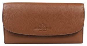 Coach $250 NWT PEBBLE LEATHER CHECKBOOK WALLET F52715