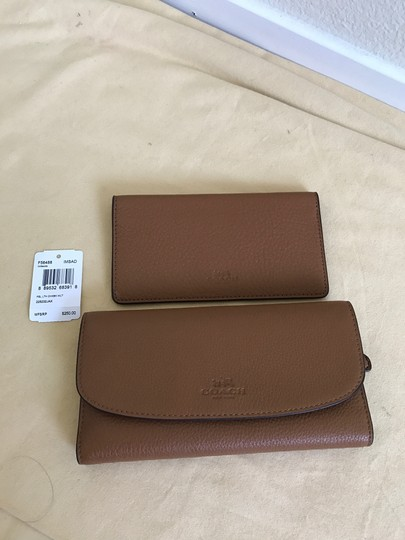 Coach $250 NWT PEBBLE LEATHER CHECKBOOK WALLET F52715 Image 2