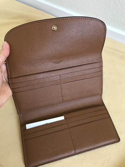Coach $250 NWT PEBBLE LEATHER CHECKBOOK WALLET F52715 Image 4