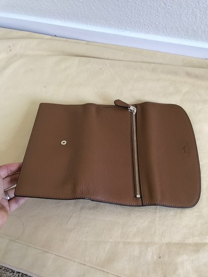Coach $250 NWT PEBBLE LEATHER CHECKBOOK WALLET F52715 Image 5