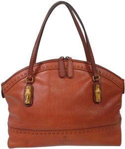 Gucci Bamboo Satchel Leather Dome Tote