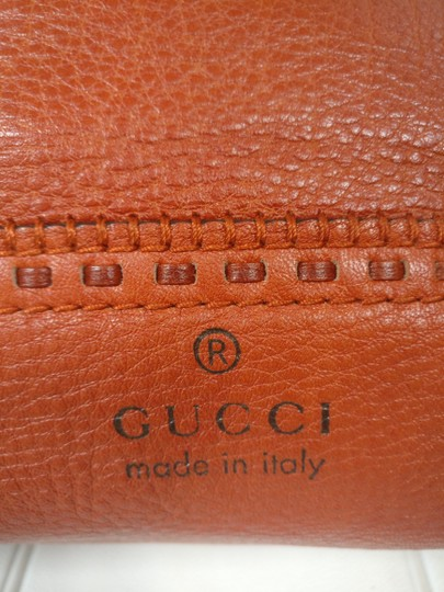 Gucci Bamboo Satchel Leather Dome Tote Image 2