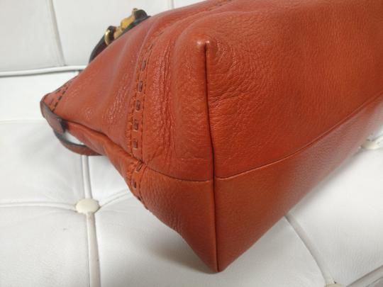 Gucci Bamboo Satchel Leather Dome Tote Image 6