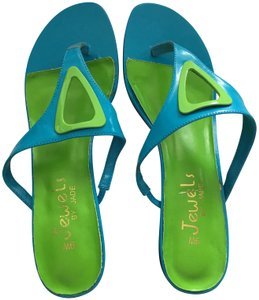 Jewels by Jade Turquoise and Lime Mules