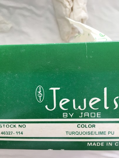 Jewels by Jade Turquoise and Lime Mules Image 4