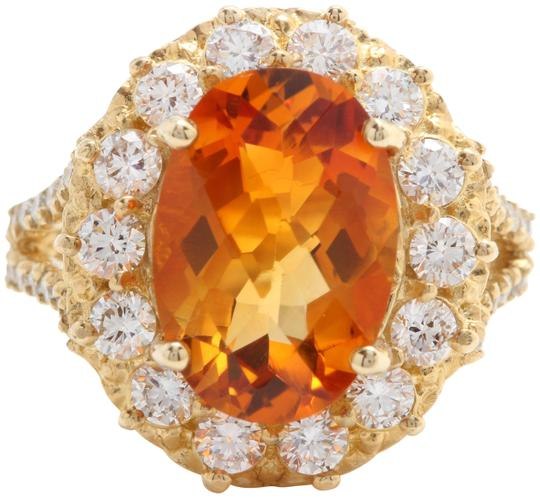 Preload https://img-static.tradesy.com/item/25272495/yellow-531-ctw-natural-citrine-and-diamond-women-made-in-14k-gold-ring-0-1-540-540.jpg