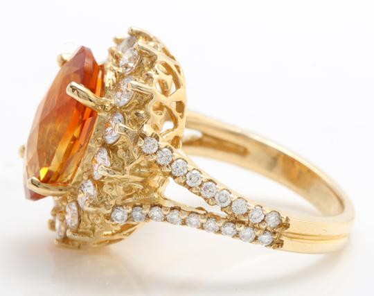 Other 5.31 CTW Natural Citrine & Diamond Women Ring Made in 14K Yellow Gold Image 5