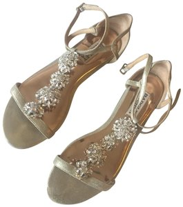 Badgley Mischka Gold with crystal embellishments Sandals