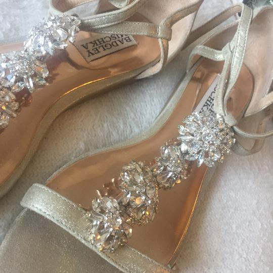 Badgley Mischka Gold with crystal embellishments Sandals Image 1