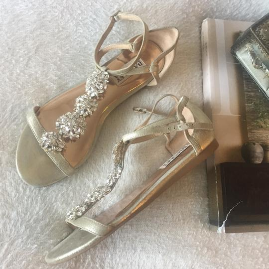 Badgley Mischka Gold with crystal embellishments Sandals Image 2