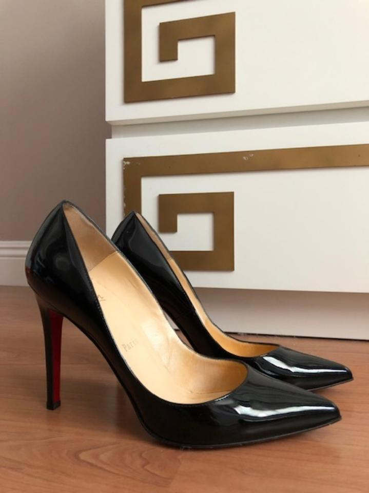 23a8a0a004 Christian Louboutin Black Pigalle Patent Leather 100mm Pumps Size EU 39.5  (Approx. US 9.5) Regular (M, B) - Tradesy