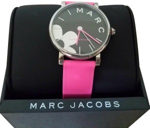 Marc Jacobs Stainless-Steel and Pink Silicone Watch MJ1622
