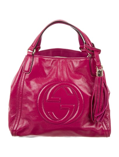 Gucci Soho Leather Tassels Pink Satchel Tote Image 1