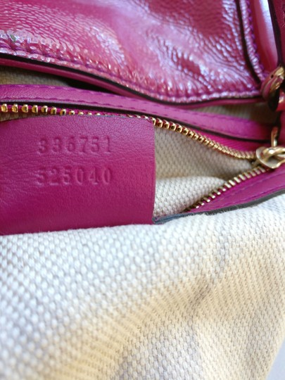 Gucci Soho Leather Tassels Pink Satchel Tote Image 10