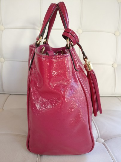 Gucci Soho Leather Tassels Pink Satchel Tote Image 3