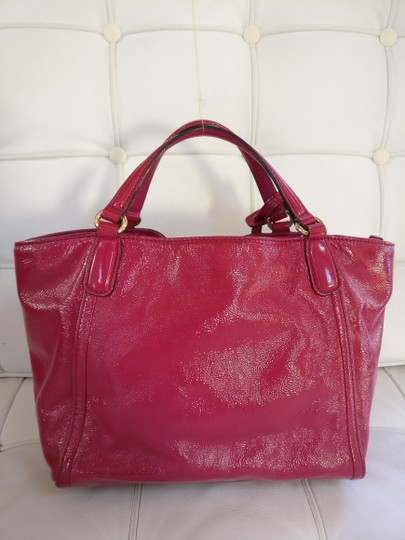Gucci Soho Leather Tassels Pink Satchel Tote Image 4
