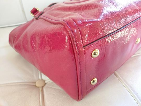Gucci Soho Leather Tassels Pink Satchel Tote Image 5