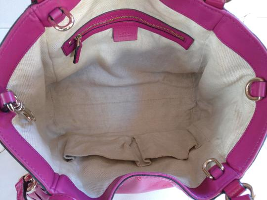 Gucci Soho Leather Tassels Pink Satchel Tote Image 8
