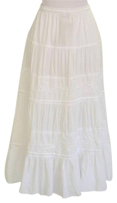 Preload https://img-static.tradesy.com/item/25272714/white-boho-floral-embroidered-tiered-organic-cotton-midi-skirt-size-14-l-34-0-1-650-650.jpg