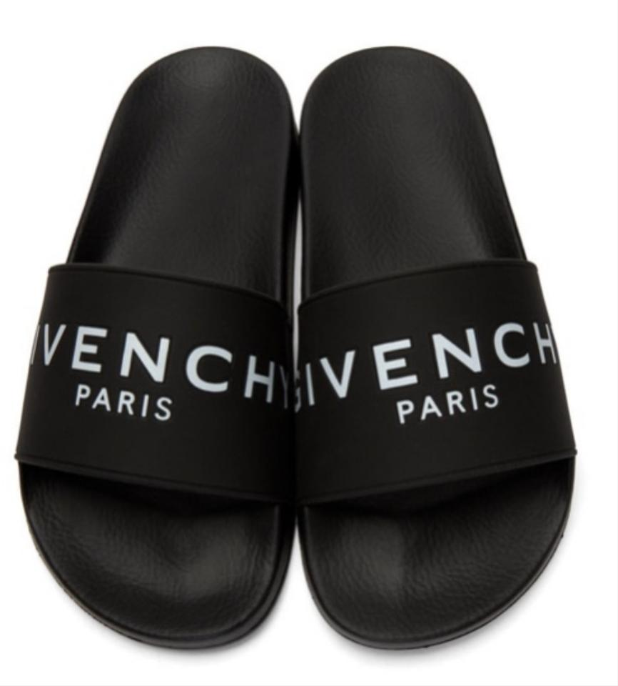 49ad2b765390 Givenchy Black Rubber Slide Sandals Size EU 39 (Approx. US 9) Wide ...