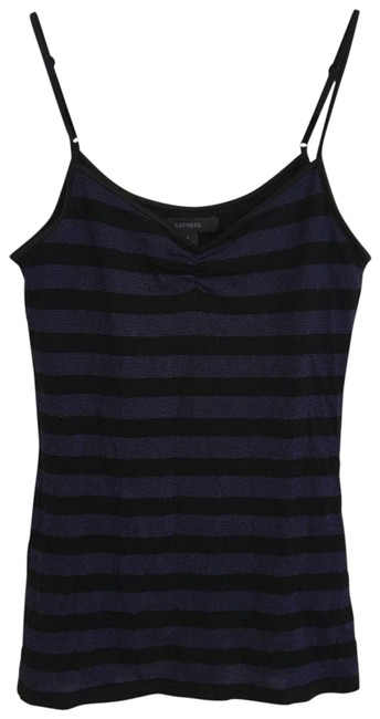 Preload https://img-static.tradesy.com/item/25272785/express-black-and-blue-striped-tank-topcami-size-4-s-0-1-650-650.jpg