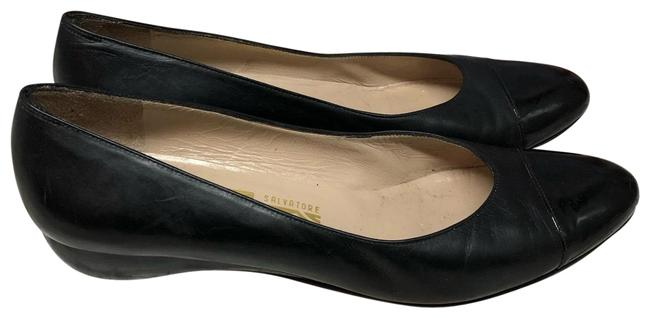 Item - Black Patent Cap Toe Leather A Pumps Size US 5.5 Narrow (Aa, N)