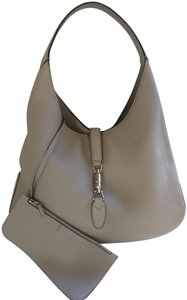 Gucci Leather Satchel Tote Hobo Bag