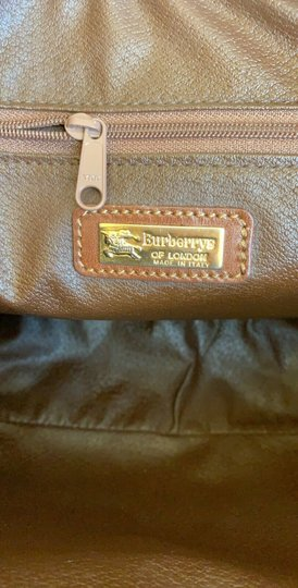 Burberry London Of Vintage Nova Check Leather Satchel in Beige, Brown Image 10