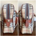 Burberry London Of Vintage Nova Check Leather Satchel in Beige, Brown Image 4