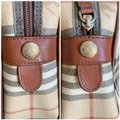 Burberry London Of Vintage Nova Check Leather Satchel in Beige, Brown Image 5
