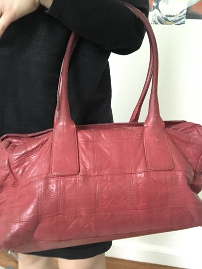 Chanel Satchel in Red Image 6