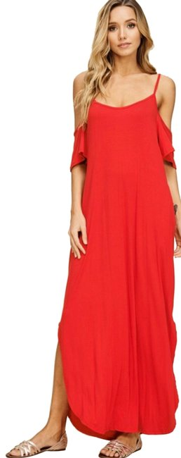 Preload https://img-static.tradesy.com/item/25272971/annabelle-red-cold-shoulder-long-casual-maxi-dress-size-28-plus-3x-0-1-650-650.jpg