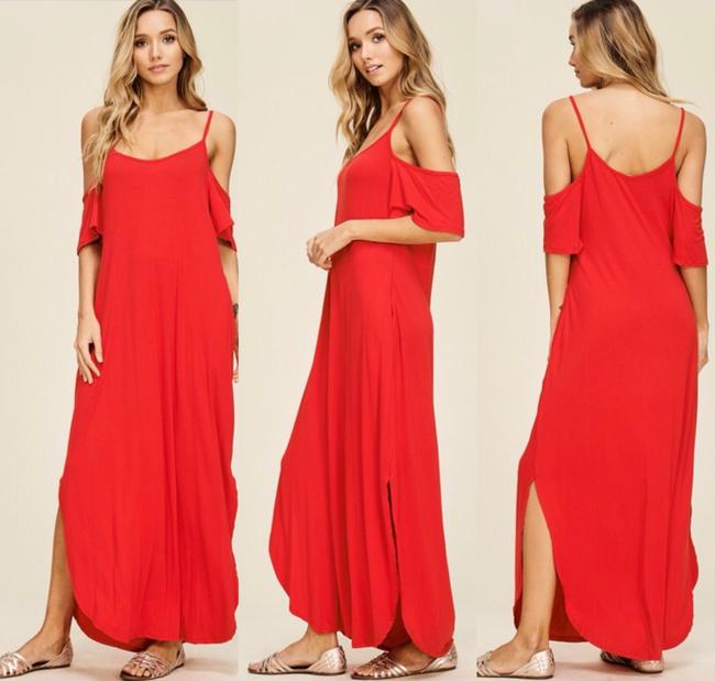RED Maxi Dress by Annabelle Image 3