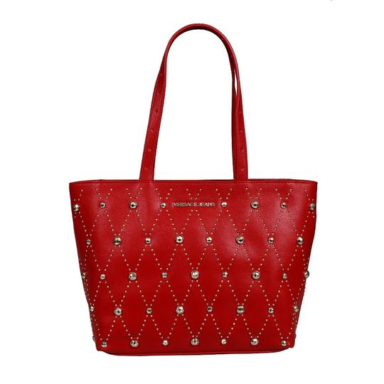 Versace Jeans Collection Tote in Red Image 1