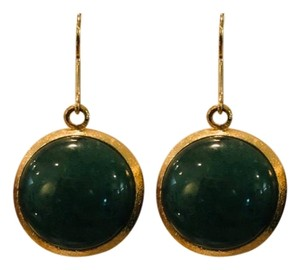 Amrita Singh jade colored stone and gold toned earrings