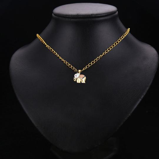 Top Gold & Diamond Jewelry 14K Tri Color CZ Elephant Pendant Image 2