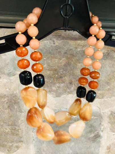 Anthropologie Anthropologie resin bead necklace Image 1