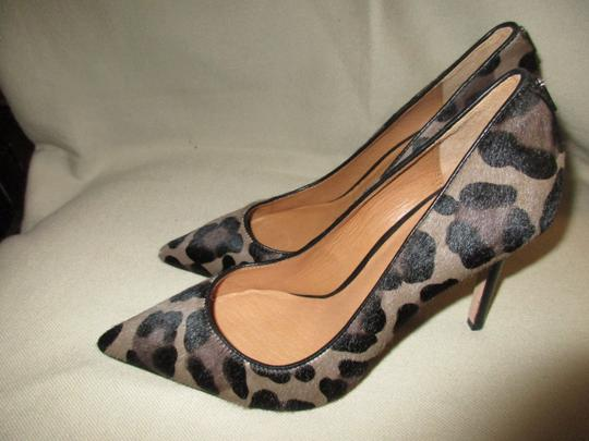COAC Animal Print Italy Pony Hair Sexy LEOPARD Pumps Image 1